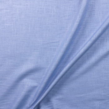 Sky Blue Midweight Designer Linen Fabric By The Yard - Wide shot
