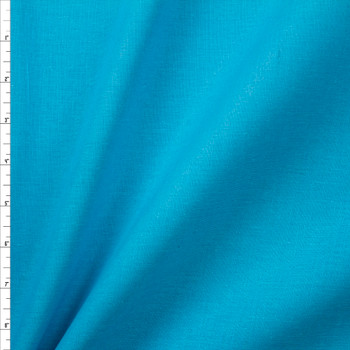 Turquoise Designer Linen Fabric By The Yard