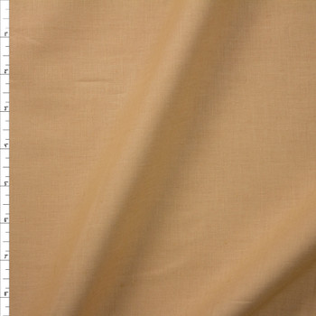 Warm Tan Designer Linen Fabric By The Yard