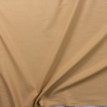 Warm Tan Designer Linen Fabric By The Yard - Wide shot