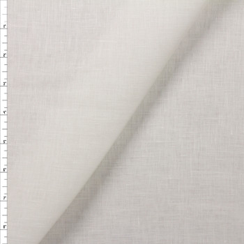 Offwhite Crisp Lightweight Designer Linen Fabric By The Yard