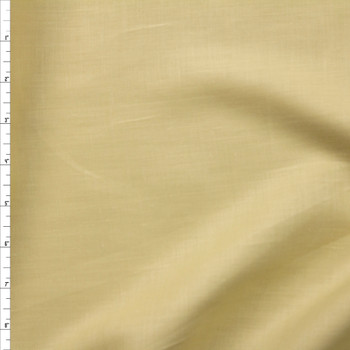 Dusty Light Yellow Designer Linen Fabric By The Yard