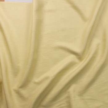 Dusty Light Yellow Designer Linen Fabric By The Yard - Wide shot
