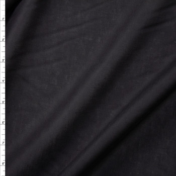 Lightweight Black Designer Linen Fabric By The Yard