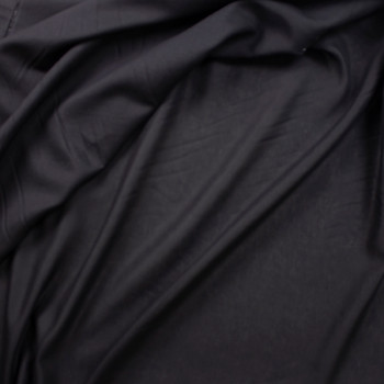 Lightweight Black Designer Linen Fabric By The Yard - Wide shot