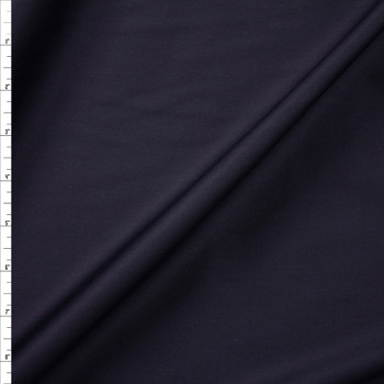 Black Shirting Weight Cotton Sateen Fabric By The Yard