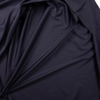 Black Shirting Weight Cotton Sateen Fabric By The Yard - Wide shot