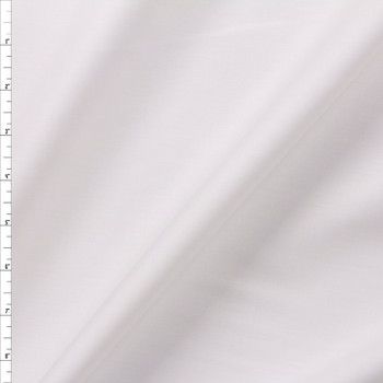 White Shirting Weight Cotton Sateen Fabric By The Yard