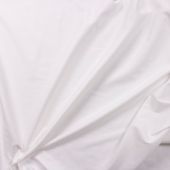 White Shirting Weight Cotton Sateen Fabric By The Yard - Wide shot