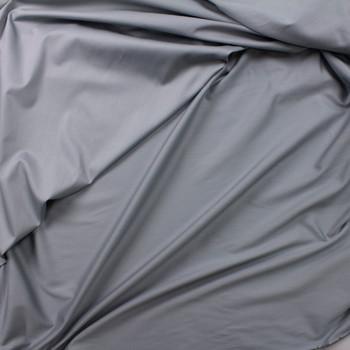 Grey Shirting Weight Cotton Sateen Fabric By The Yard - Wide shot