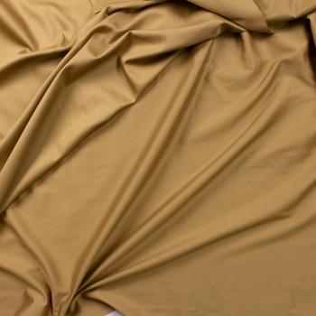 Tan Shirting Weight Cotton Sateen Fabric By The Yard - Wide shot