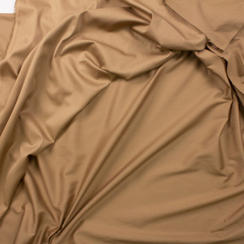 Cappuccino Shirting Weight Cotton Sateen Fabric By The Yard - Wide shot