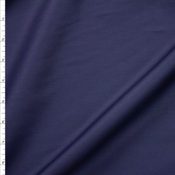 Navy Shirting Weight Cotton Sateen Fabric By The Yard