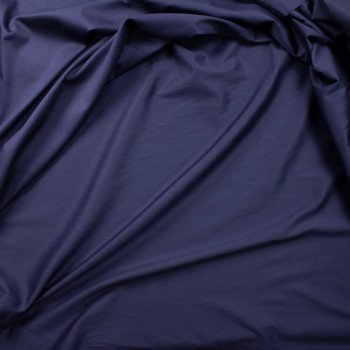 Navy Shirting Weight Cotton Sateen Fabric By The Yard - Wide shot