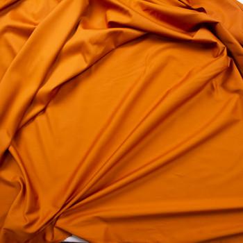 Burnt Orange Shirting Weight Cotton Sateen Fabric By The Yard - Wide shot