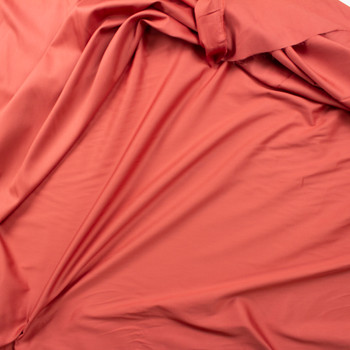 Dusty Cinnamon Shirting Weight Cotton Sateen Fabric By The Yard - Wide shot