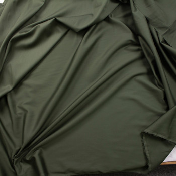 Forest Green Shirting Weight Cotton Sateen Fabric By The Yard - Wide shot