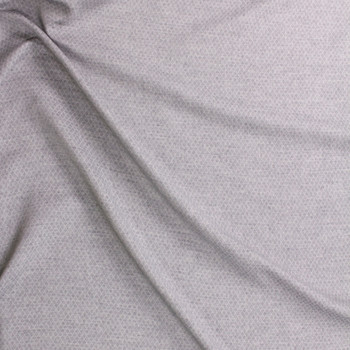 Grey Diamond Quilted Look Chambray Double Gauze Fabric By The Yard - Wide shot