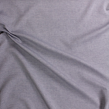 Blue Diamond Quilted Look Chambray Double Gauze Fabric By The Yard - Wide shot
