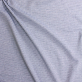 Light Blue Diamond Quilted Look Chambray Double Gauze Fabric By The Yard - Wide shot