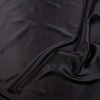 Black Designer Rayon Lining Fabric By The Yard - Wide shot