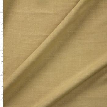 Khaki Rayon Linen Look Fabric By The Yard