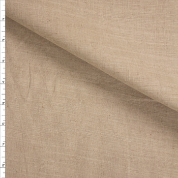Natural Rustic Cotton/Linen Blend Fabric By The Yard