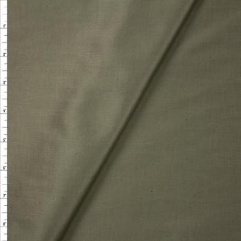 Moss Green Slubbed Cotton/Linen Blend Sateen Fabric By The Yard