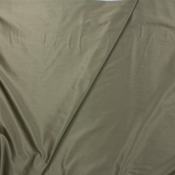 Moss Green Slubbed Cotton/Linen Blend Sateen Fabric By The Yard - Wide shot