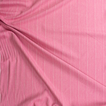Pink on Pink Barcode Stripe Rayon/Linen Blend Fabric By The Yard - Wide shot