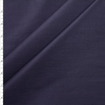 Navy Blue Slubbed Cotton/Linen Blend Sateen Fabric By The Yard