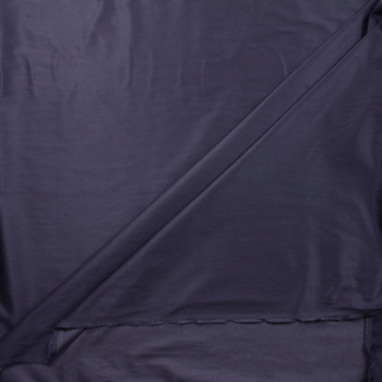 Navy Blue Slubbed Cotton/Linen Blend Sateen Fabric By The Yard - Wide shot