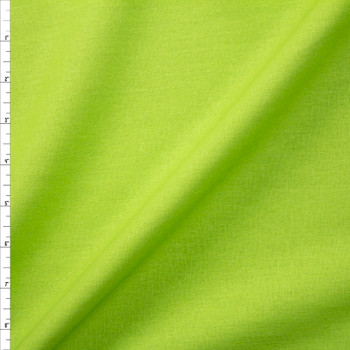Lime Green Rayon/Linen Blend Fabric By The Yard