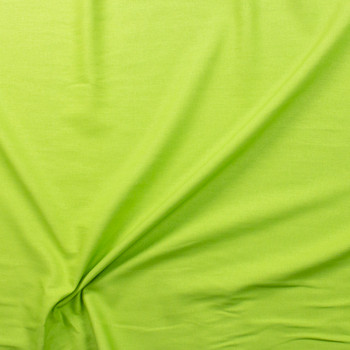 Lime Green Rayon/Linen Blend Fabric By The Yard - Wide shot