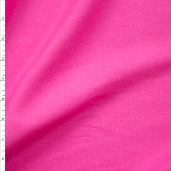 Hot Pink Rayon/Linen Blend Fabric By The Yard