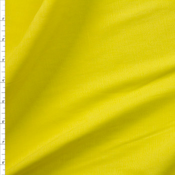 Bright Canary Yellow Drapey Rayon/Linen Blend Fabric By The Yard