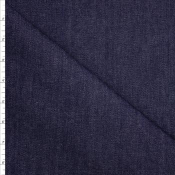 Dark Indigo Washed 12oz Designer Denim Fabric By The Yard