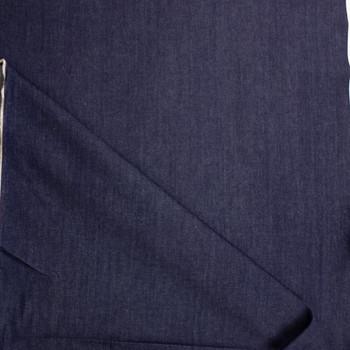 Dark Indigo Washed 12oz Designer Denim Fabric By The Yard - Wide shot