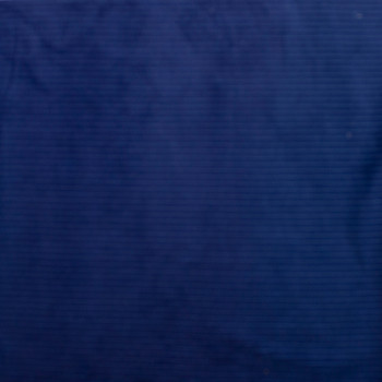 Royal and Navy Vertical Stripe Corduroy Fabric By The Yard - Wide shot