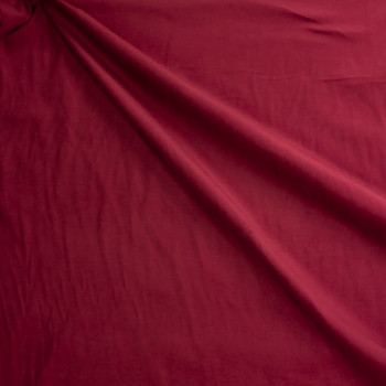 Burgundy Baby Wale Corduroy Fabric By The Yard - Wide shot