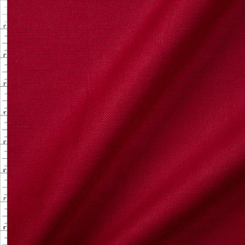 Burgundy Midweight Chunky Linen Blend Fabric By The Yard