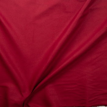 Burgundy Midweight Chunky Linen Blend Fabric By The Yard - Wide shot