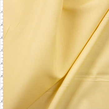 Pale Dusty Yellow Linen Look Cotton Shirting Fabric By The Yard