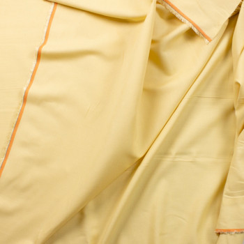 Pale Dusty Yellow Linen Look Cotton Shirting Fabric By The Yard - Wide shot