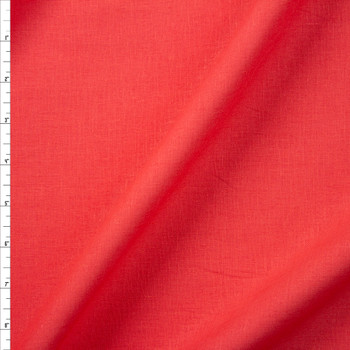 Bright Coral Rayon/Linen Blend Fabric By The Yard