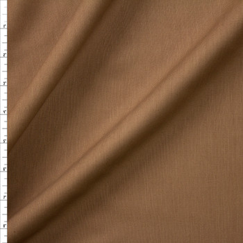Light Brown Drapey Rayon/Linen Blend Fabric By The Yard