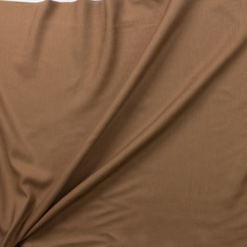 Light Brown Drapey Rayon/Linen Blend Fabric By The Yard - Wide shot