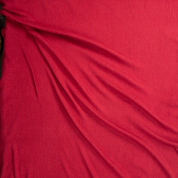 Red Soft Stretch Rib Knit Fabric By The Yard - Wide shot