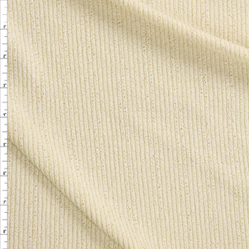 Ivory Crepe Textured Poly Rib Knit Fabric By The Yard