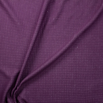 Plum Circles Quilted Cotton Gauze Fabric By The Yard - Wide shot